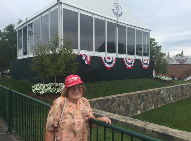 Presidential skybox at Trump National Golf Club. (Twitter/@StevePoliti)