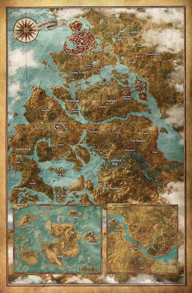 This world map shows just how enormous The Witcher 3 will be