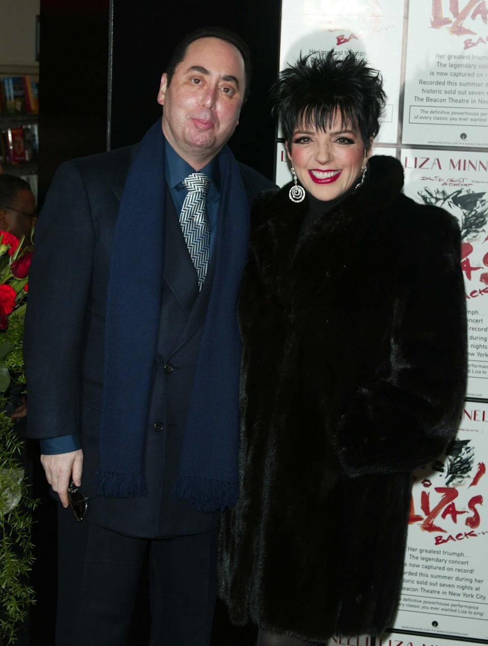 """<p>Minnelli's fourth husband, manager David Gest, <a href=""""https://www.vanityfair.com/news/2002/03/happyvalley200203"""" class=""""link rapid-noclick-resp"""" rel=""""nofollow noopener"""" target=""""_blank"""" data-ylk=""""slk:met her at a Michael Jackson tribute concert"""">met her at a Michael Jackson tribute concert</a>, and the pair decided to get married three months later. They were only married for 16 months, but their divorce wasn't finalized until 2007. Their breakup wasn't amicable - Gest sued Minnelli for $10 million for physical abuse, and Minnelli countersued him for $2 million after saying he pocketed her money. In 2007, they agreed to a <a href=""""https://www.washingtonpost.com/news/morning-mix/wp/2016/04/13/david-gest-and-liza-minnelli-were-only-married-for-16-months-heres-why/"""" class=""""link rapid-noclick-resp"""" rel=""""nofollow noopener"""" target=""""_blank"""" data-ylk=""""slk:no-fault divorce"""">no-fault divorce</a>. Gest <a href=""""http://www.bbc.com/news/entertainment-arts-36028232"""" class=""""link rapid-noclick-resp"""" rel=""""nofollow noopener"""" target=""""_blank"""" data-ylk=""""slk:passed away in 2016"""">passed away in 2016</a>. </p>"""