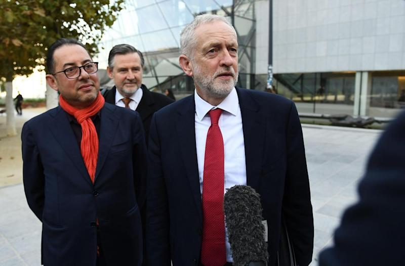 Mr Corbyn with Gianni Pittella, the president of the socialists' group in the European Parliament (Getty)