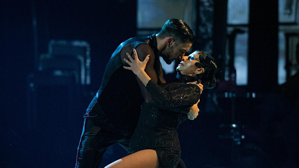 Ranvir Singh and Giovanni Pernice set tongues wagging with their steamy tango. (BBC)