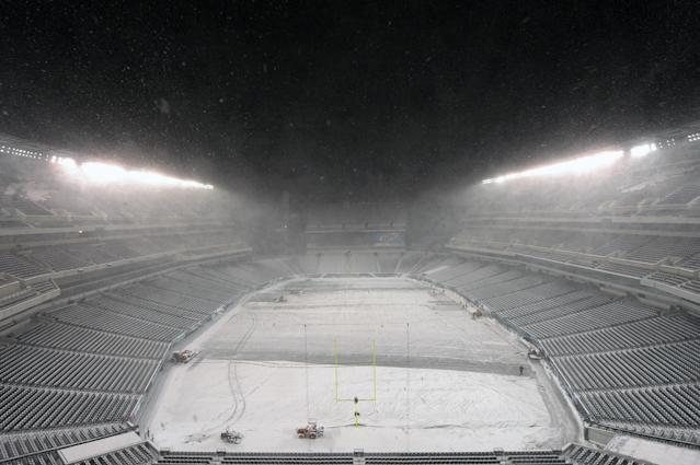 <p>A huge blizzard hit the northeast in December of 2010. The Sunday Night Football game between the Minnesota Vikings and the Philadelphia Eagles was postponed and the teams played the first ever Tuesday Night Football game. </p>