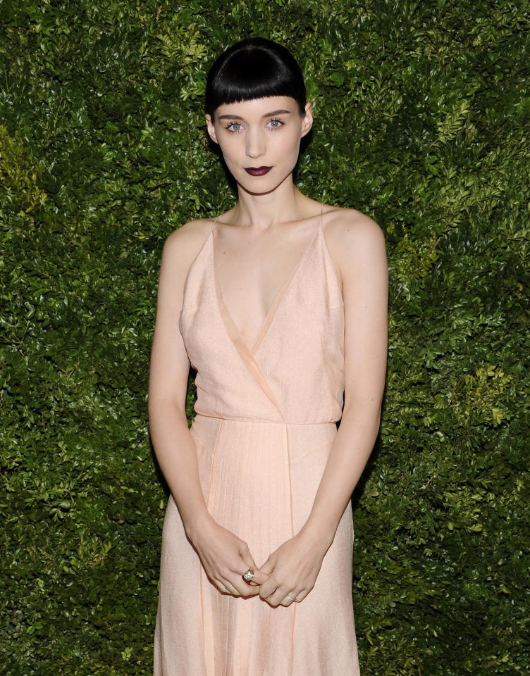 Actress Rooney Mara attends the CFDA / Vogue Fashion Fund Awards at Skylight Soho on Monday, Nov. 14, 2011 in New York. (AP Photo/Evan Agostini)