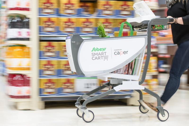 Sobeys is testing out a so-called Smart Cart at one of its locations in Oakville, Ont.(Sobeys)