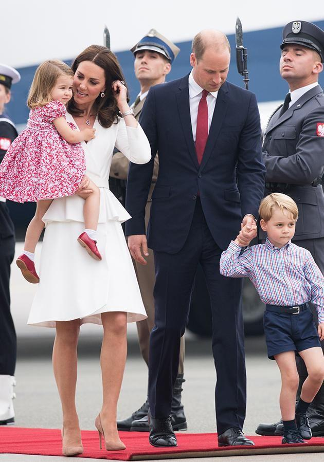 The royal family are currently on a five-day tour of Poland and Germany. Photo: Getty Images