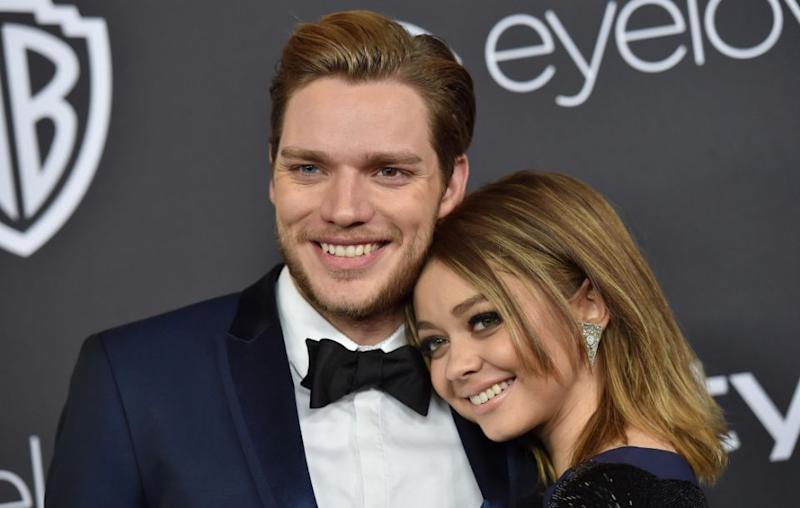 Sarah recently split from Dominic Sherwood. The pair are pictured here together earlier this year. Source: Getty