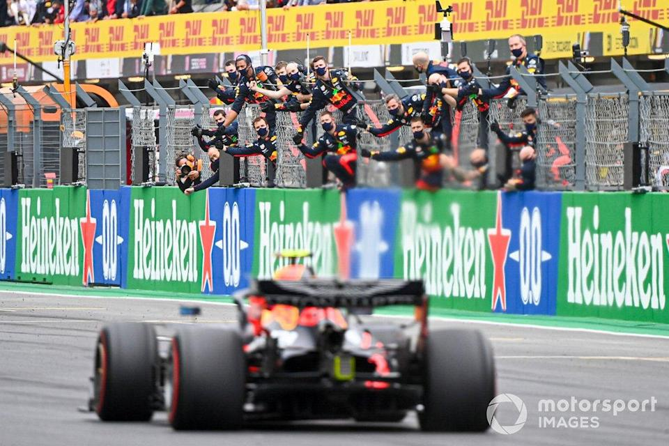 """Third place Max Verstappen, Red Bull Racing RB16<span class=""""copyright"""">Charles Coates / Motorsport Images</span>"""