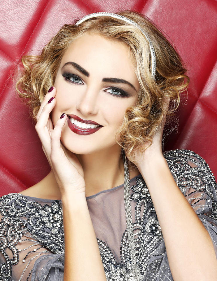 Miss Michigan USA 2013, Jaclyn Schultz, poses for fashion photographer Fadil Berisha in a 1920's Great Gatsby inspired wardrobe by Sherri Hill at the Planet Hollywood Resort and Casino, in Las Vegas Nevada.  Tune in to the crowning moment LIVE on NBC starting at 9:00 PM ET on June 16, 2013 from PH Live.