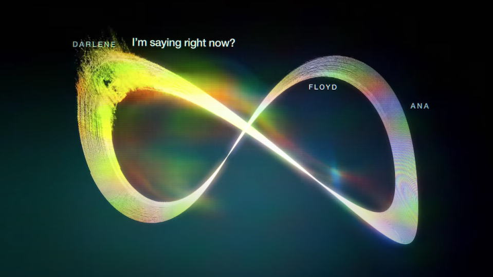 Sound-waves are visualized to look like an infinity sign in the trailer for Calls.