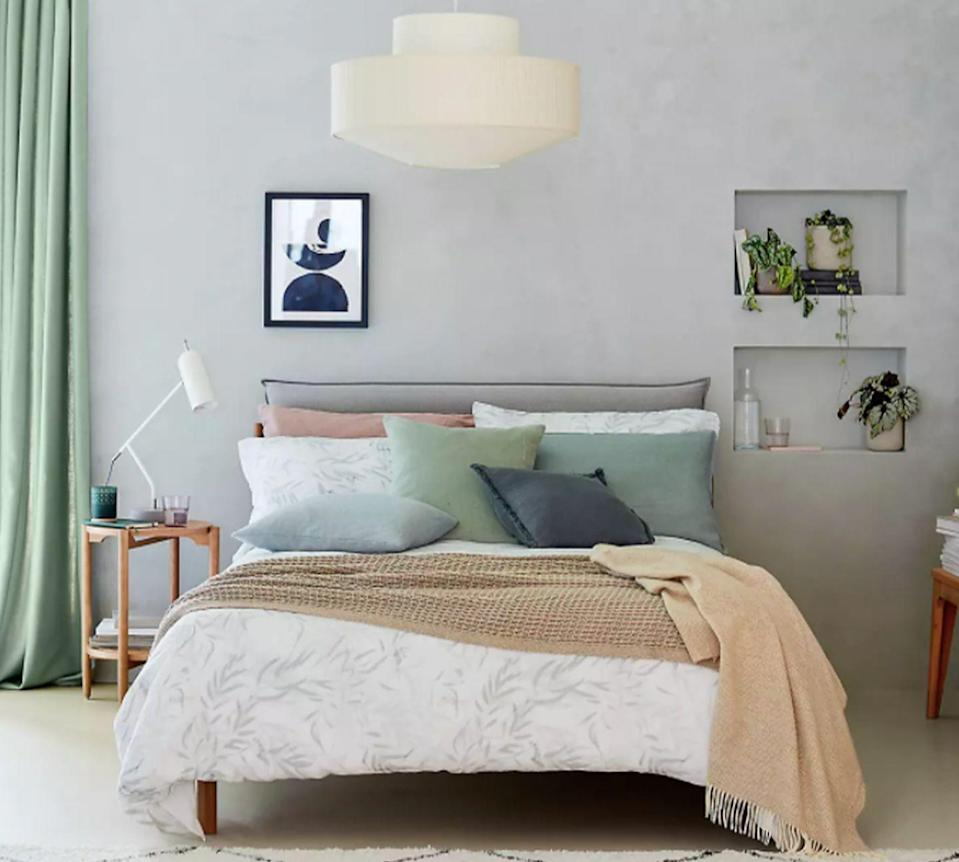 <p>Of course, you don't need to paint or paper every wall to incorporate your favourite colour into the room.</p><p>For a more subtle approach, select a few key furnishings and accessories such as cushions, curtains, lamps and wall art to bring a neutral bedroom to life. </p>