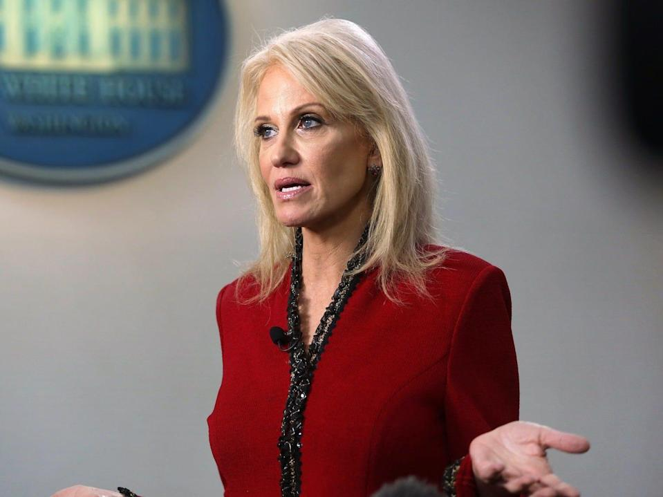 The White House senior counselor Kellyanne Conway, the mother to Claudia, at the White House on January 10.