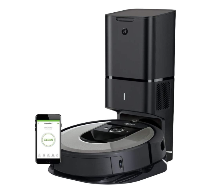 """<p><strong>iRobot</strong></p><p>amazon.com</p><p><strong>$800.00</strong></p><p><a href=""""https://www.amazon.com/iRobot-Roomba-Connected-Automatic-Disposal/dp/B085D45SZF/?tag=syn-yahoo-20&ascsubtag=%5Bartid%7C10055.g.37664083%5Bsrc%7Cyahoo-us"""" rel=""""nofollow noopener"""" target=""""_blank"""" data-ylk=""""slk:Shop Now"""" class=""""link rapid-noclick-resp"""">Shop Now</a></p><p>Make vacuuming your home a breeze with the help of <a href=""""https://www.goodhousekeeping.com/home-products/a37620790/top-robot-vacuums-ca/"""" rel=""""nofollow noopener"""" target=""""_blank"""" data-ylk=""""slk:iRobot's +i6 model"""" class=""""link rapid-noclick-resp"""">iRobot's +i6 model</a>. Not only does this option move around on its own, picking up dirt and grime along the way, but it also removes dirt on its own.</p>"""