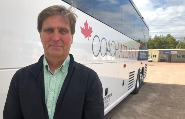 Mike Cassidy, owner of Maritime Bus and Coach Atlantic, says the number of daily passengers is about half of what it was when the Atlantic bubble was open. (Wayne Thibodeau/CBC - image credit)