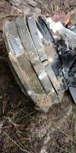 The Pakistani military released images showing what appeared to be metal fragments, which it said were from payloads dropped by Indian warplanes