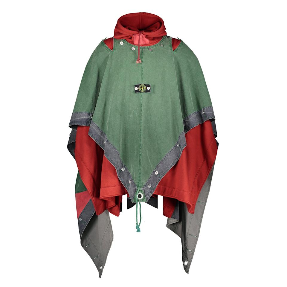 From Stone Island's first collection, this cape is based on the German military Zeltbahn. - Credit: Courtesy of Westminster Clothing Archive