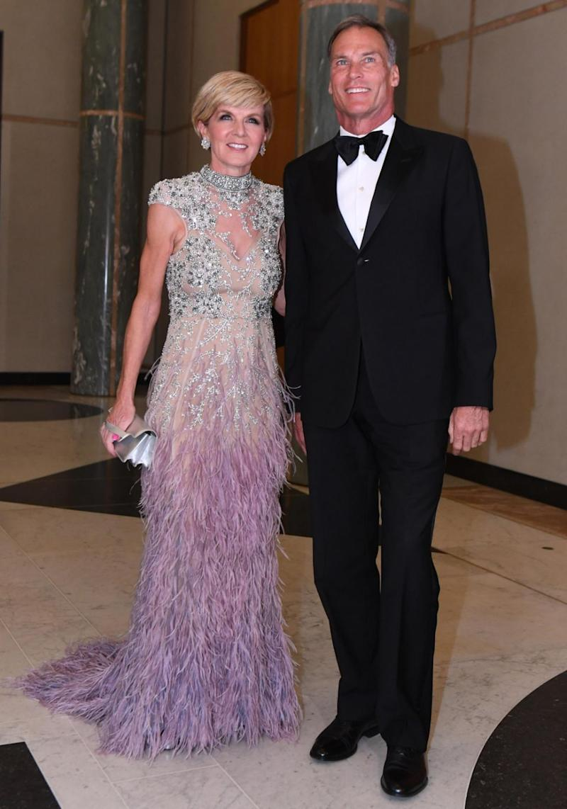 Julie Bishop looked stunning in her gown. Source: AAP Image