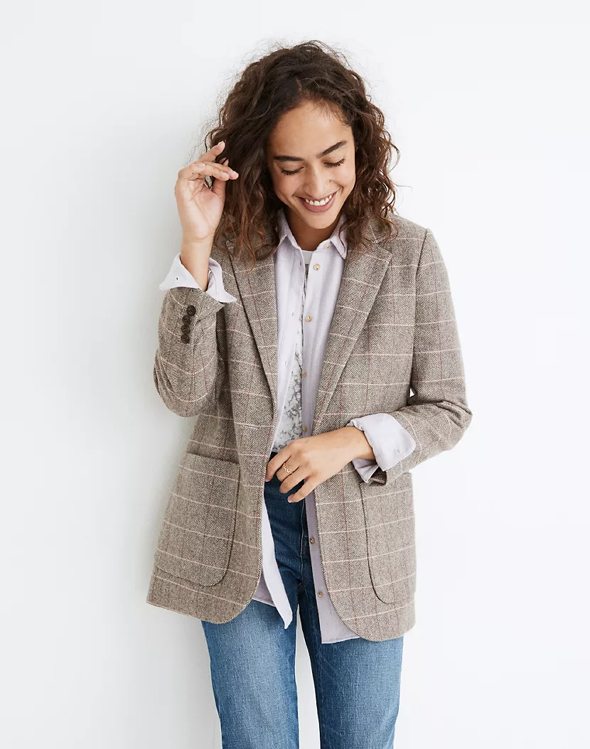 "<br><br><strong>Madewell</strong> Larsen Blazer, $, available at <a href=""https://go.skimresources.com/?id=30283X879131&url=https%3A%2F%2Ffave.co%2F3jtnvy1"" rel=""nofollow noopener"" target=""_blank"" data-ylk=""slk:Madewell"" class=""link rapid-noclick-resp"">Madewell</a>"