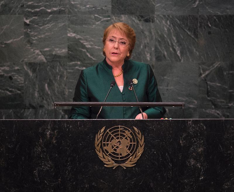 President Michele Bachelet (pictured) was herself arrested and tortured under Pinochet's regime in 1975