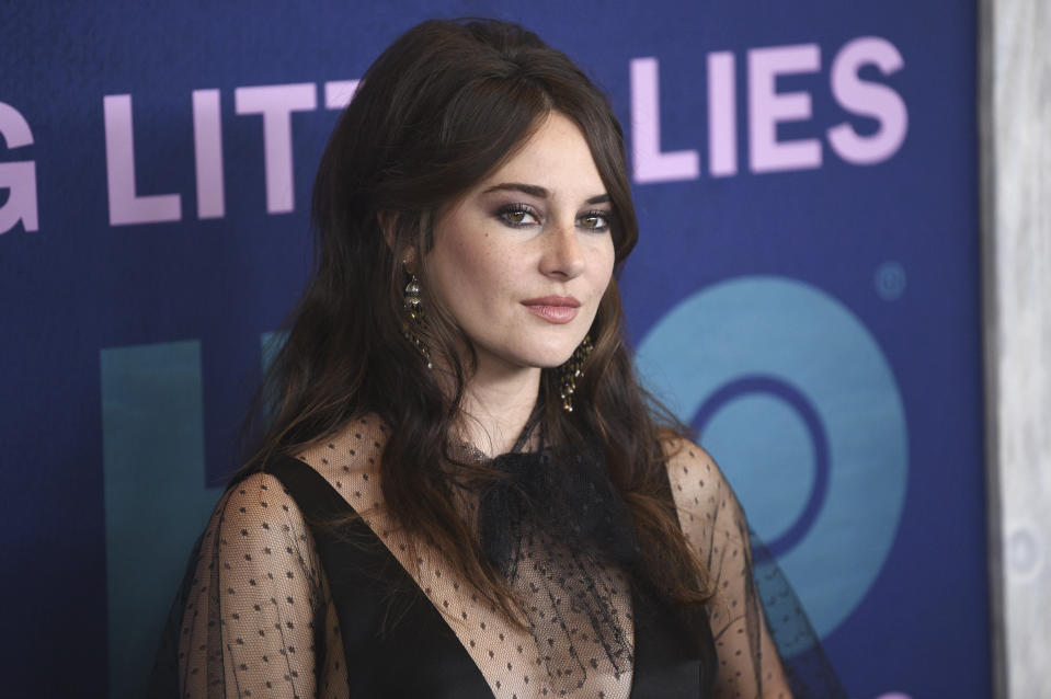 """Shailene Woodley attends the premiere of HBO's """"Big Little Lies"""" season two at Jazz at Lincoln Center on Wednesday, May 29, 2019, in New York. (Photo by Evan Agostini/Invision/AP)"""