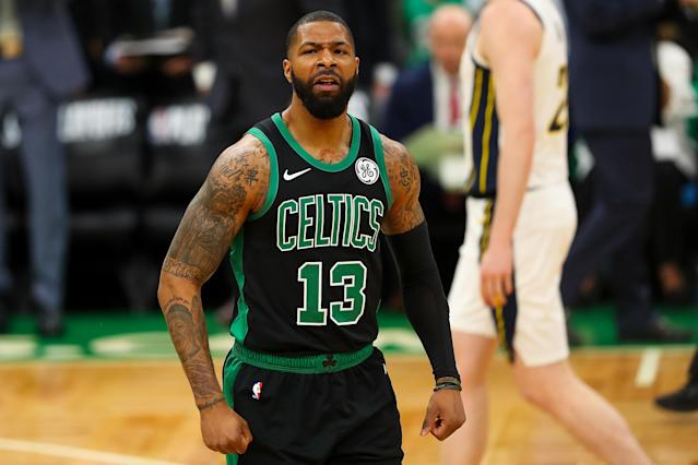 Marcus Morris reportedly as a new deal with the Knicks after backing out of an agreement with the Spurs. (Getty)
