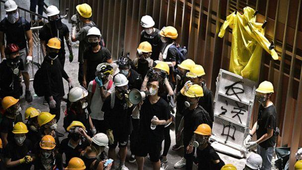 PHOTO: Protesters break into the government headquarters in Hong Kong on July 1, 2019. (Anthony Wallace/AFP/Getty Images)