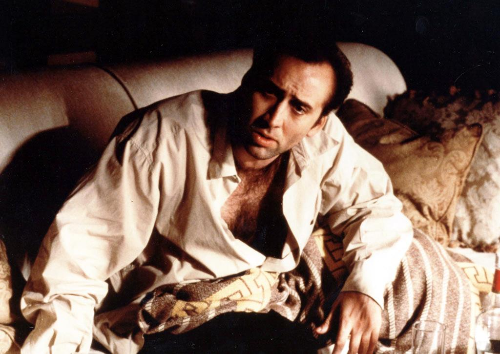 """Nicolas Cage, Best Actor, 'Leaving Las Vegas' (1995)  If there's one thing the Academy loves more than a drunk character, it's a character that dies at the end. Nicolas Cage was able to kill two birds with two stone in """"Leaving Las Vegas,"""" portraying an inebriated screenwriter who never overcomes his addiction, instead succumbing to it. """"You can never, never ask me to stop drinking,"""" he tells his companion. And he doesn't."""