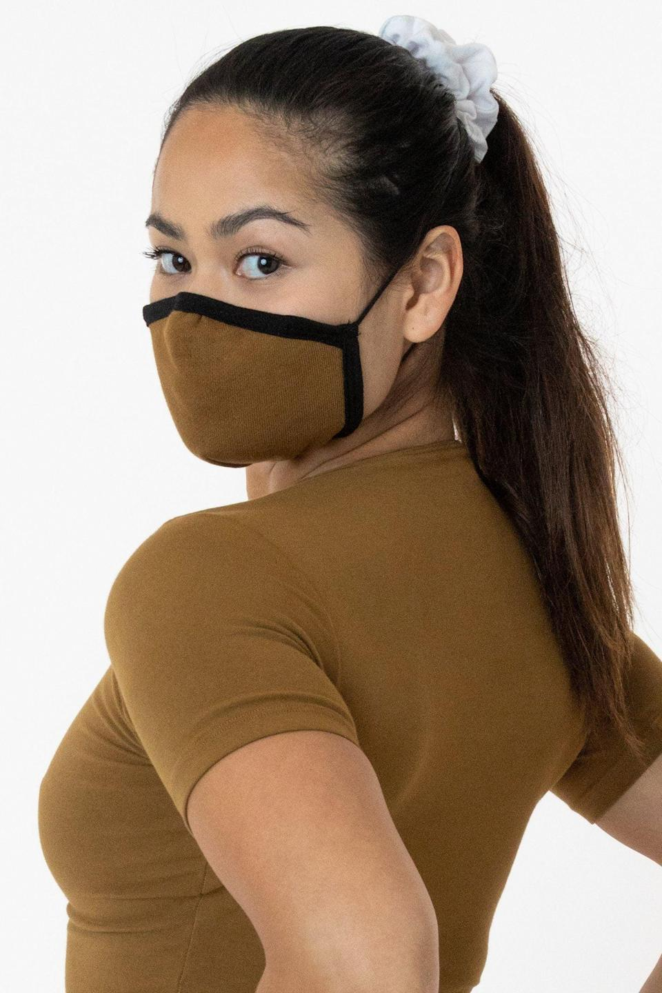 <p>The <span>Los Angeles Apparel Face Mask Pack</span> ($30) comes in one size with three mask, and proceeds help the company continue to donate the face masks they're creating to those in need. You'll find 22 different color options on the brand's site, though many might already be sold out. Unique features include an adjustable nose that forms to your face, as well as adjustable straps for comfort.</p>