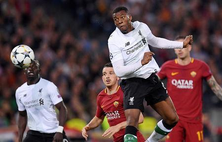Soccer Football - Champions League Semi Final Second Leg - AS Roma v Liverpool - Stadio Olimpico, Rome, Italy - May 2, 2018 Liverpool's Georginio Wijnaldum scores their second goal REUTERS/Alberto Lingria