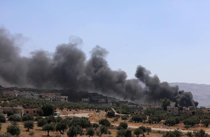 Shells hit Syria's Idlib as rebels brace for assault