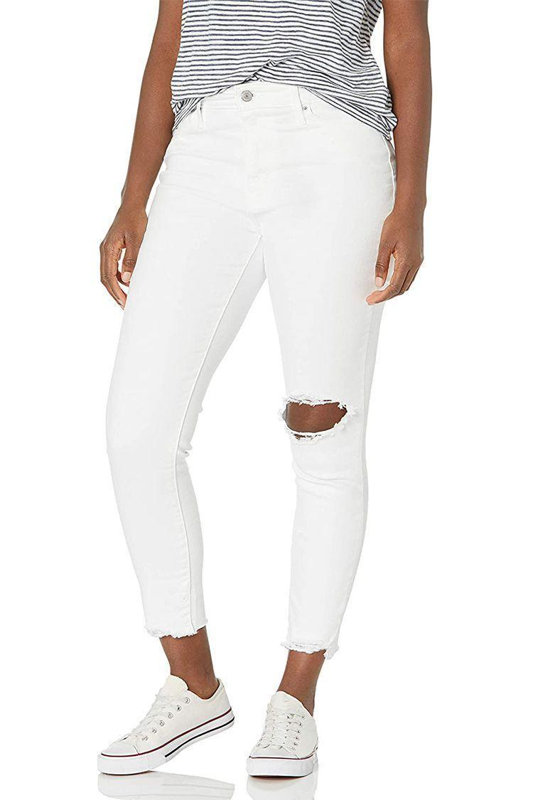 """<p><strong>Levi's</strong></p><p>amazon.com</p><p><strong>$49.99</strong></p><p><a href=""""https://www.amazon.com/dp/B07F11ZWK2?tag=syn-yahoo-20&ascsubtag=%5Bartid%7C2089.g.36397245%5Bsrc%7Cyahoo-us"""" rel=""""nofollow noopener"""" target=""""_blank"""" data-ylk=""""slk:Shop Now"""" class=""""link rapid-noclick-resp"""">Shop Now</a></p><p>Levi's best-selling 721 skinny jeans are always a hit for us, but these high-rise white ones are definitely our favorite for the warmer months. If white is too high-maintenance for you (because no one likes noticeable butt stains), there are tons of other color options for you to choose from.</p>"""