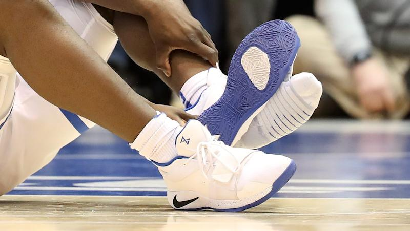 bd2cc20e188a Paul George says he talked to Nike about his shoes after Zion Williamson  injury (VIDEO)