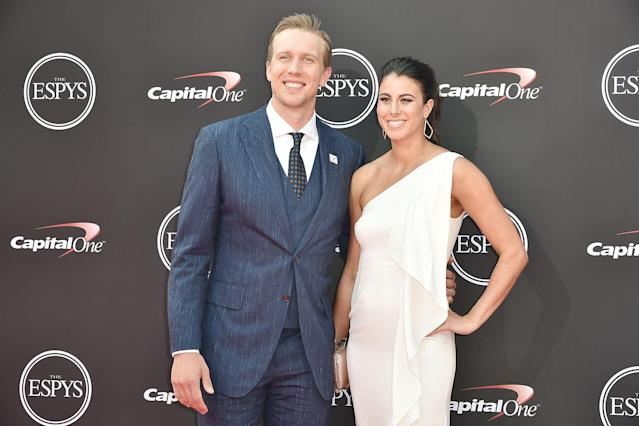 "<a class=""link rapid-noclick-resp"" href=""/nfl/players/25798/"" data-ylk=""slk:Nick Foles"">Nick Foles</a> and his wife, Tori, announced on Wednesday night that she suffered a miscarriage last weekend. (Getty Images)"