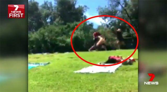 The brutal attack was captured on camera. Source: 7 News