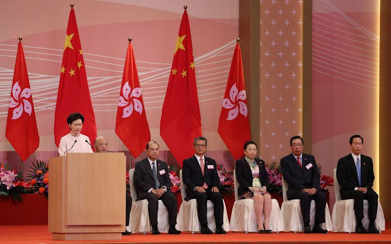"""Carrie Lam, Hong Kong's leader, said the new law is the """"most important development"""" since the city's return to Chinese rule in 1997 - EPA"""