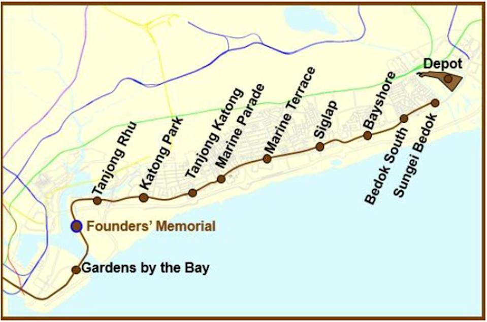 The Land Transport Authority (LTA) said the Founders' Memorial station – which is its current working name – will be located between the TEL's Tanjong Rhu and Gardens by the Bay stations.