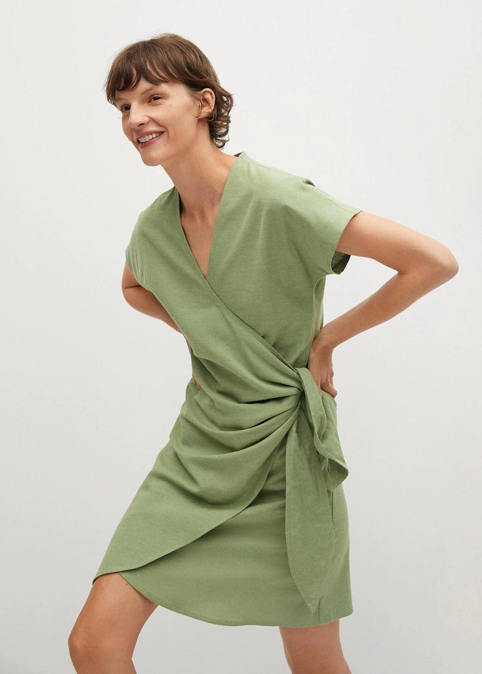 <p>I want to be sipping on a margarita at a beach somewhere in this <span>Mango Belt Wrap Dress</span> ($60).</p>