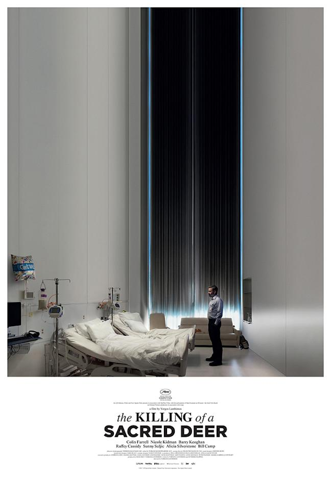 <p>The eye-catching use of negative space in the poster for Yorgos Lanthimos's ultradry, ultradark comedy perfectly expresses the emotional emptiness of the main characters' lives. </p>