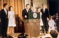 <p>Right off the heels of his involvement in the Watergate Scandal being brought to light, an impeachment was hanging over Nixon like a judicial gavel waiting to drop. In order to salvage some semblance of sovereignty, Nixon instead chose to resign from office on August 9, 1974, making him the first and only U.S. president to do so.</p>