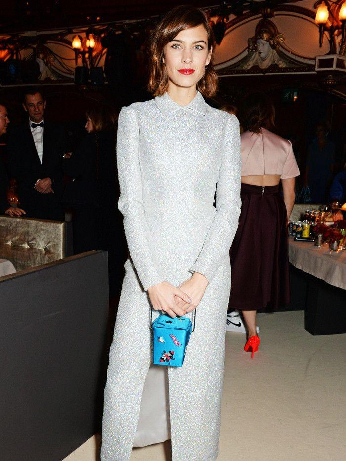 a4d75a3e45 On Alexa Chung  Emilia Wickstead dress. Style Notes  Another Alexa Chung  trademark is her Peter Pan collar. She often wears elegant collared looks  in the ...