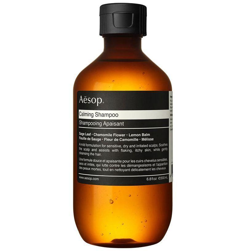"""<p><strong>Aesop </strong></p><p>nordstrom.com</p><p><strong>$45.00</strong></p><p><a href=""""https://go.redirectingat.com?id=74968X1596630&url=https%3A%2F%2Fshop.nordstrom.com%2Fs%2Faesop-calming-shampoo%2F4365889&sref=https%3A%2F%2Fwww.esquire.com%2Fstyle%2Fgrooming%2Fg19504376%2Fbest-shampoos-men%2F"""" rel=""""nofollow noopener"""" target=""""_blank"""" data-ylk=""""slk:Buy"""" class=""""link rapid-noclick-resp"""">Buy</a></p><p>Aesop doesn't mess around, which makes shopping its selection of grooming products more a pleasure than it should be. The brand's calming shampoo is made specifically for scalp that tends to get super itchy from dandruff, dryness, or anything else. </p>"""
