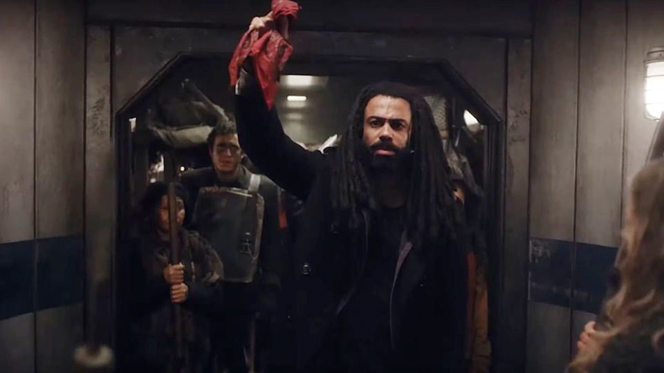 Andre Layon (Daveed Diggs) in train in Netflix's Snowpiercer