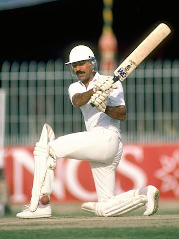 Zaheer Abbas scored his individual ninety in World Cup games when he made 93 against West Indies at The Oval on 20.06.79. His first ninety was 97 against Sri Lanka at Nottingham on 14.06.75. (Getty Images)