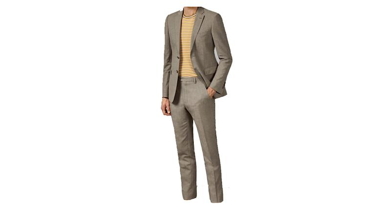 TONET Debonair slim fit linen suit