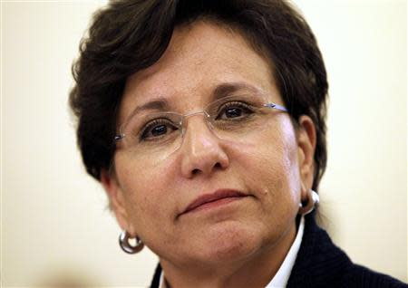 Penny Pritzker testifies before a Senate Commerce, Science and Transportation Committee in Washington