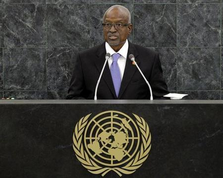 Manuel Serifo Nhamadjo, Interim President of Guinea-Bissau, addresses the 68th United Nations General Assembly at U.N. headquarters in New York