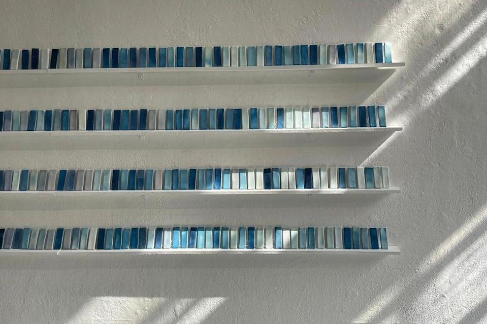 Susie Dalton's piece uses tiles which react to sunlight, creating a work which symbolises the changing of the seasons (Susie Dalton)