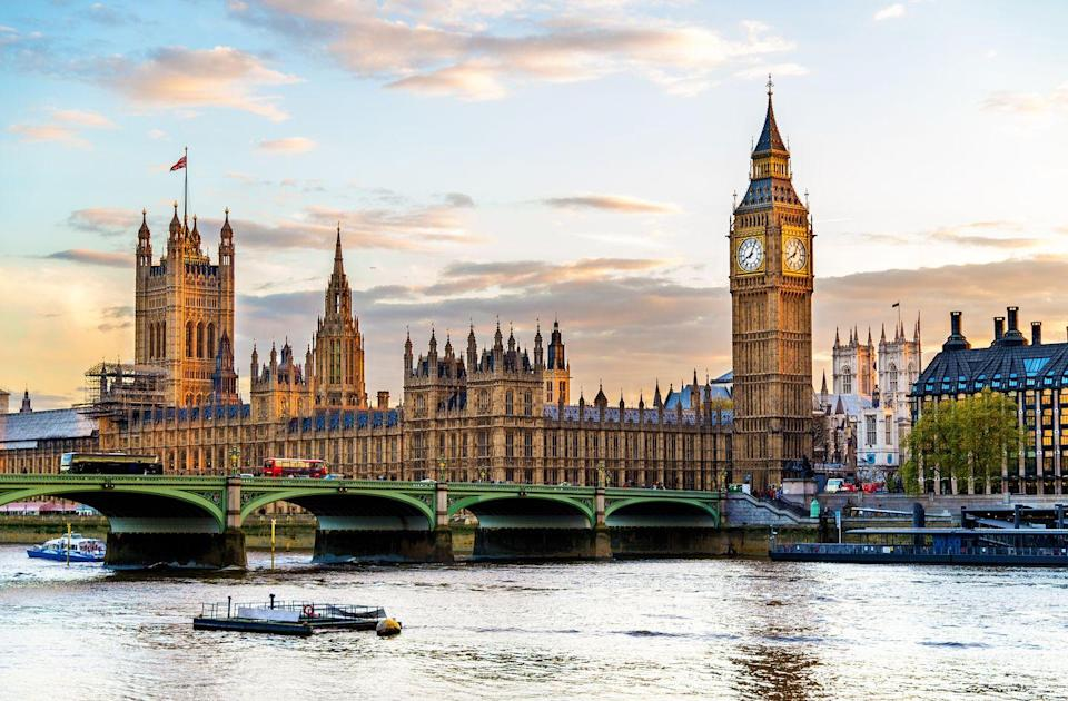 "<p>On October 16, 1834, a fire ripped through the Palace of Westminster in London, destroying the seat of the U.K.'s parliament. A new complex of elaborate buildings embodying the greatness of the country and the roots of democracy was needed, and a competition was held to find the ideal architect. </p><p>Charles Barry, the man behind Highclere Castle, won with his vision of a staggering Gothic Revival structure housing an octagonal central hall and two imposing towers. Though the project faced many delays and scrutiny from members of Parliament, the new <a href=""https://www.parliament.uk/about/living-heritage/building/palace/"" rel=""nofollow noopener"" target=""_blank"" data-ylk=""slk:Palace of Westminster"" class=""link rapid-noclick-resp"">Palace of Westminster</a> was finally completed in 1867 and quickly became a remarkable symbol of not only of London, but of the Commonwealth.</p>"