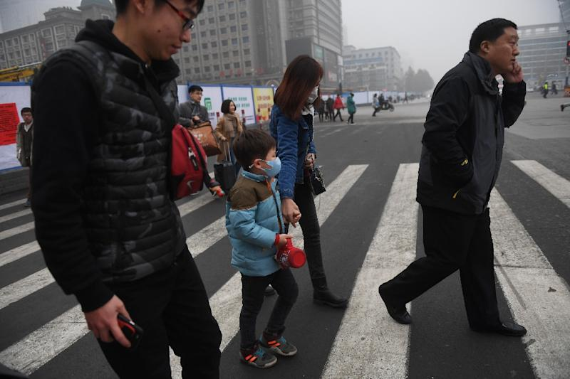 The Chinese city of Shijiazhuang has seen a spike in pollution (AFP Photo/Greg Baker)