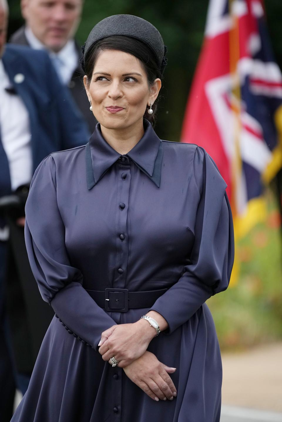 Home Secretary, Priti Patel, attending the unveiling of the UK Police Memorial at the National Memorial Arboretum at Alrewas, Staffordshire (Christopher Furlong/PA) (PA Wire)