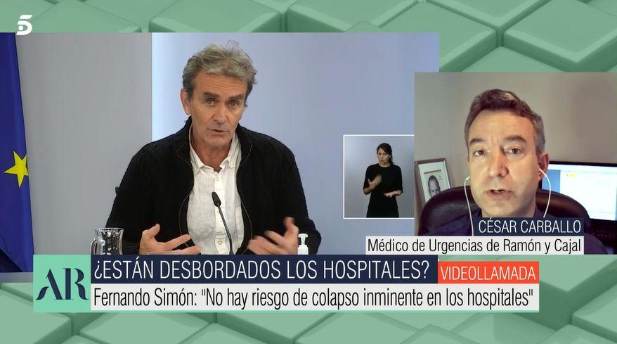 El doctor Carballo en 'El programa de AR'.  (Photo: TELECINCO)